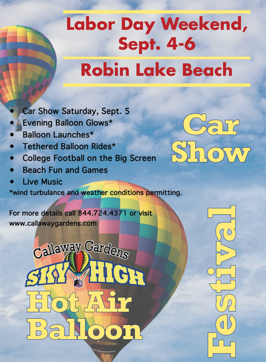 Callaway Gardens Sky High Hot Air Festival & Car Show