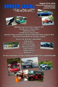 Street Legal Show Downz AUg12-14